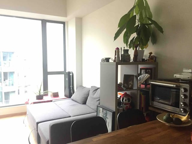 Sofa bed in loft style apartment in Tseung Kwan O