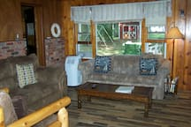 Another view of the living room.  Doorway leads to the kitchen