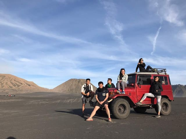 Bromo Ijen tour,Villa,for 6 people 3D/2N.90$/perso