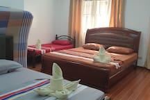 Main Bedroom with 3Beds(King, Queen, single)