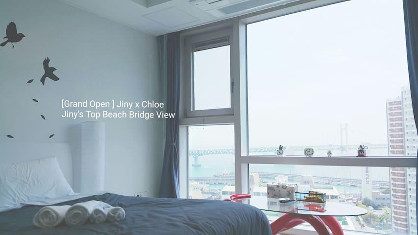 Jiny's Top Beach Bridge View Room - 수영구 - Wohnung