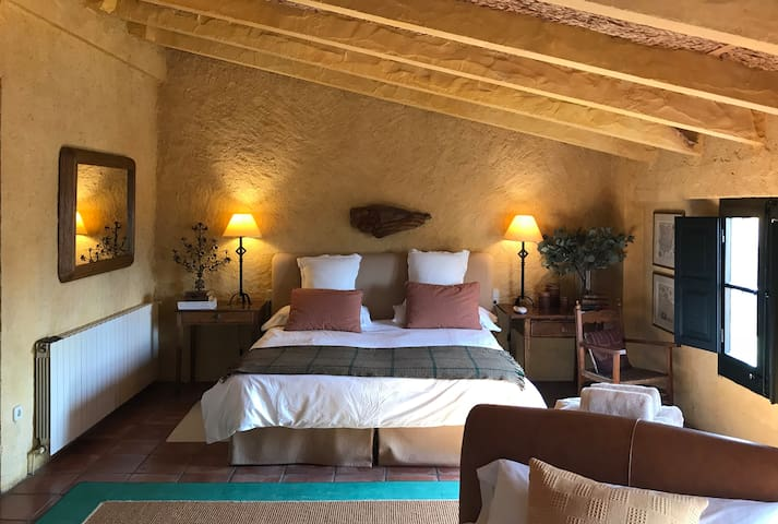 Mas Roure Vell - Yellow suite in Garrotxa