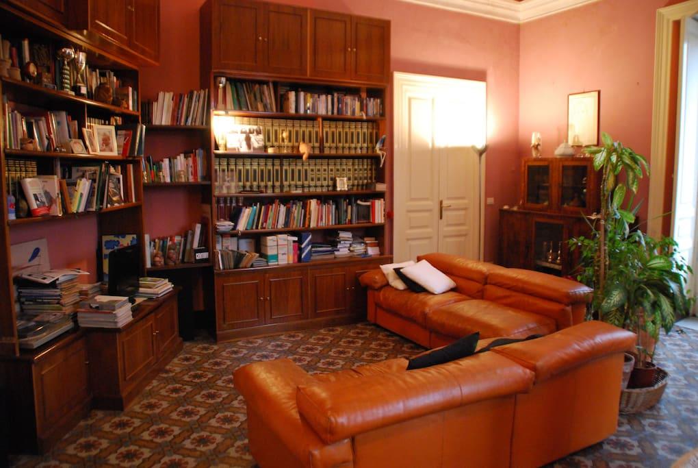 sala lettura e prima colazione