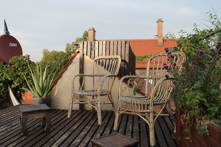 ☆ Top Roof Garden, Cool Lodge in City