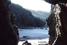 Stunning caves to explore on Dunworly Beach, 2 minute walk away from the coach house