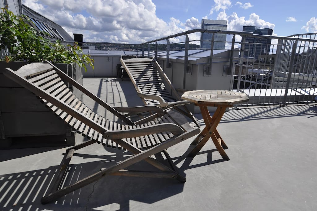 Relax at our roofterrace