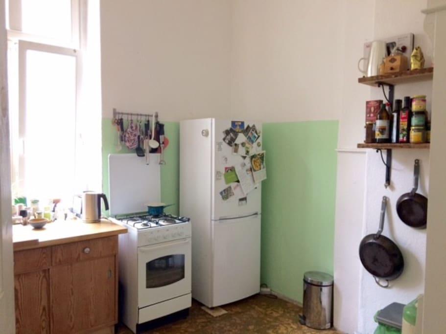 ...with fridge, freezer and oven