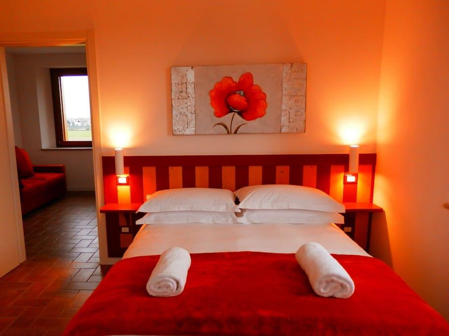 Appartamento con una camera da letto.Divano letto + letto  matrimoniale Agriturismo Cjargnei