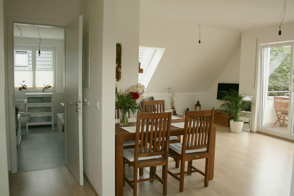 Badezimmer & Wonhzimmer / Bathroom & living room