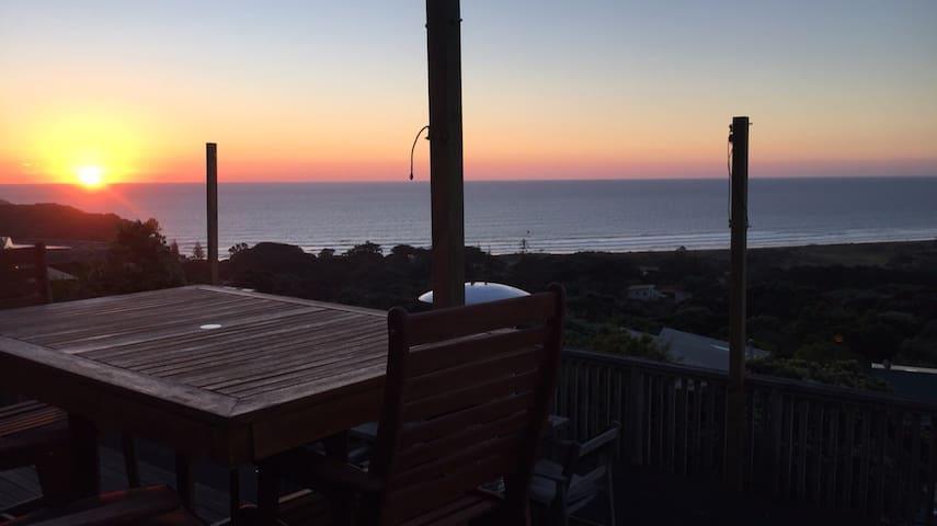 Muriwai beach with a view