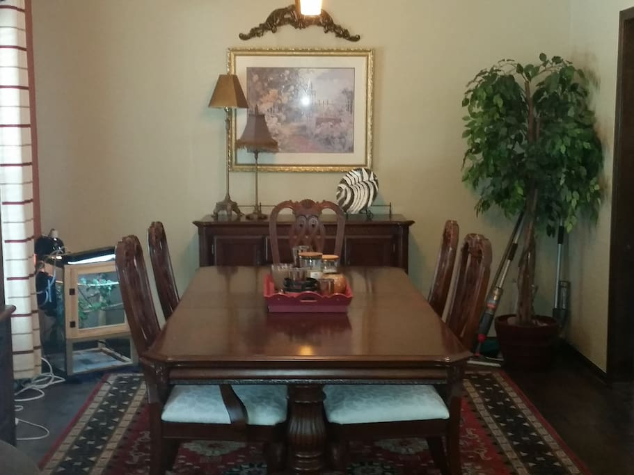 Large dinning table for meals or playing games