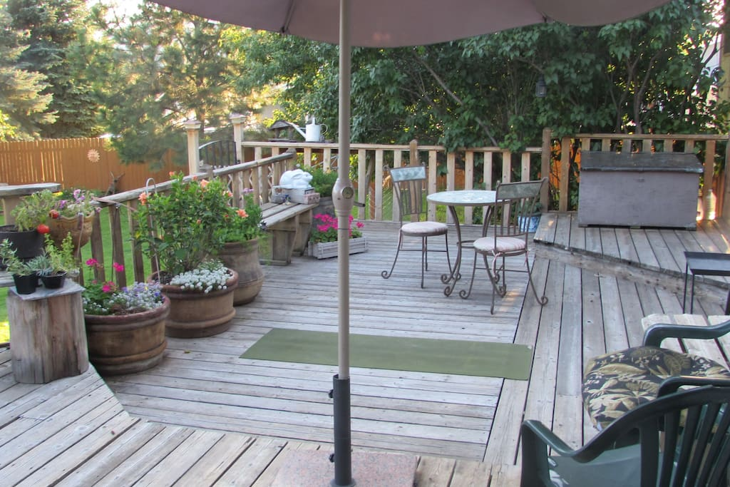 Backdeck is accessible and a nice place for morning coffee or evening glass of wine