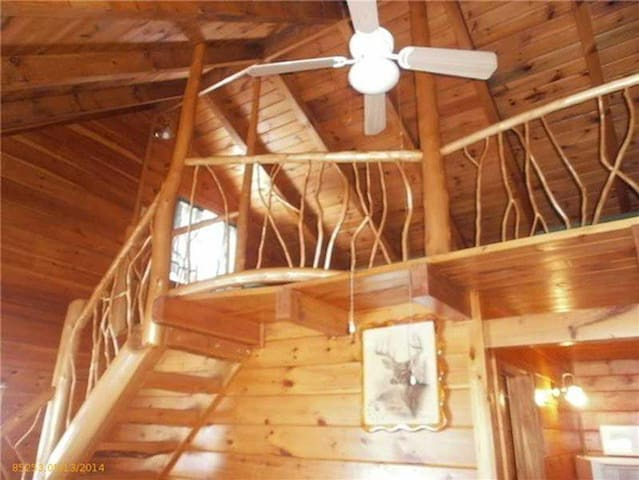 Beautiful knotty pine cabin available for all four seasons.