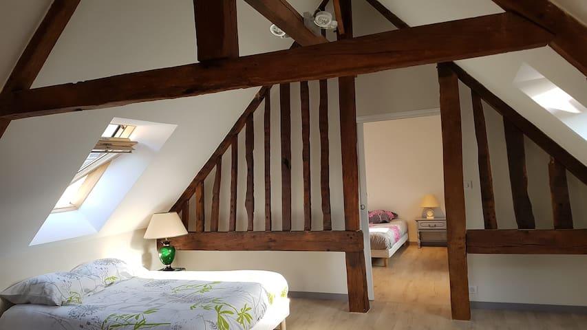Chambre 2 en mezzanine  (1 lit double)