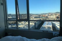 Top floor unit with breathtaking views of the city