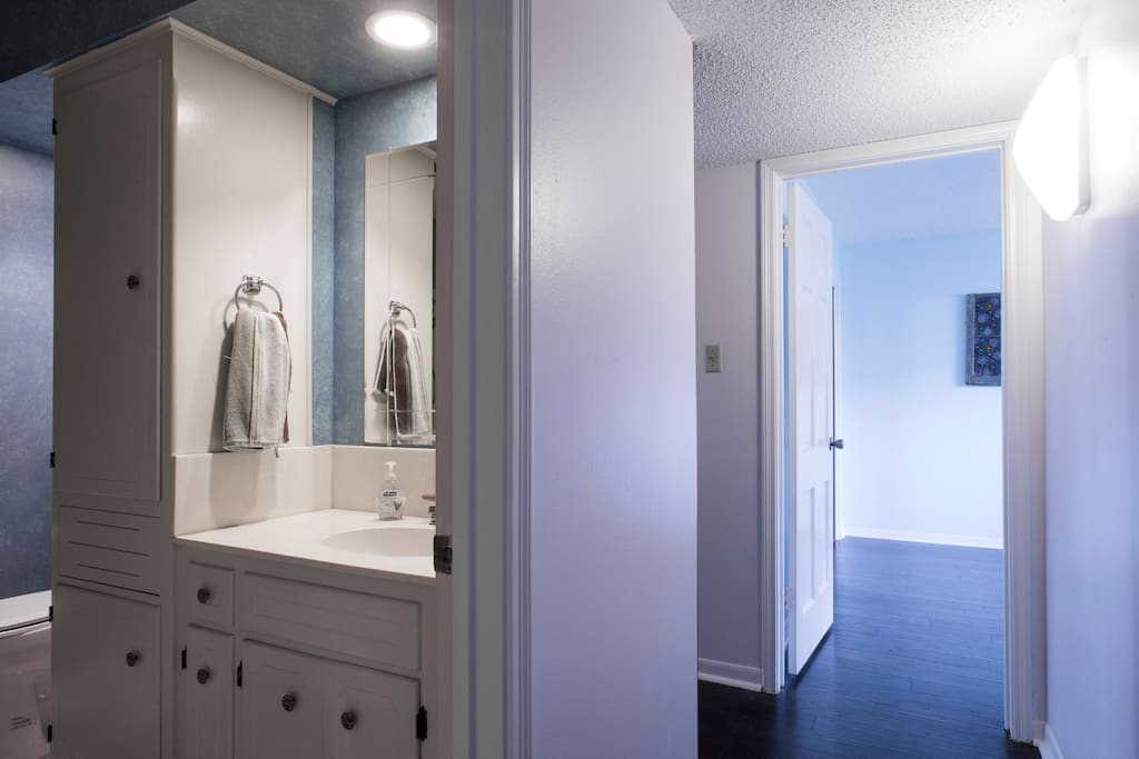 Guest bathroom and guest room