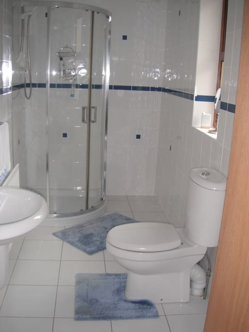 There is an en suite with an electric shower