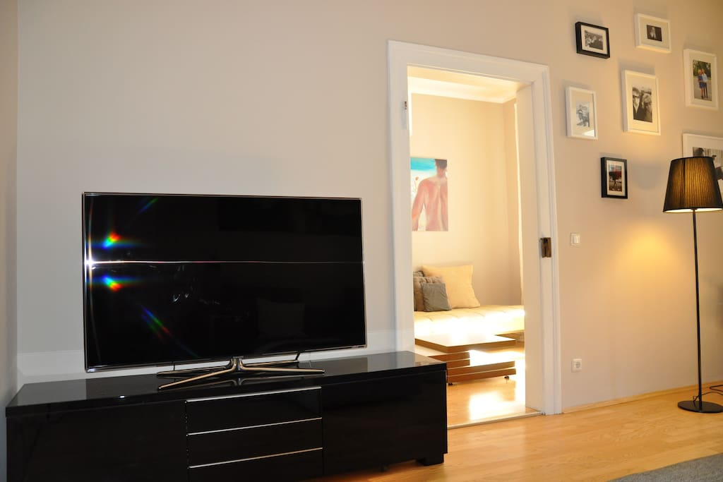 big flat TV in the main living room