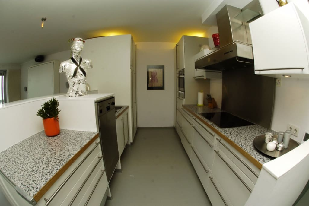 Fully outfitted Miele kitchen