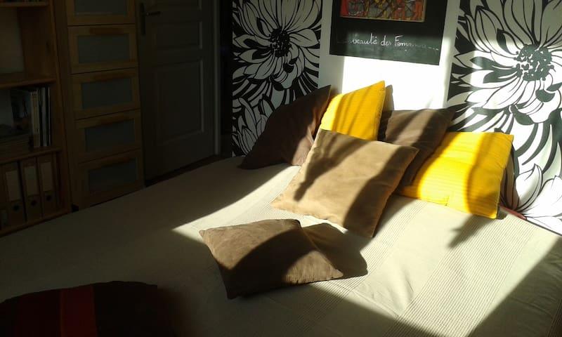 chambre privée avec lit en 160cm, TV, DVD - Poncin