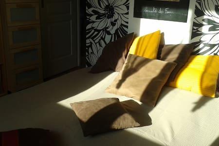 chambre privée avec lit en 160cm, TV, DVD - Poncin - House