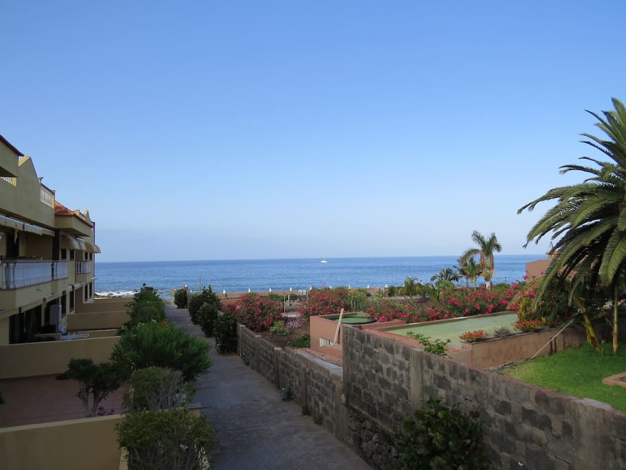 View from the terrace towards the Atlantic Ocean