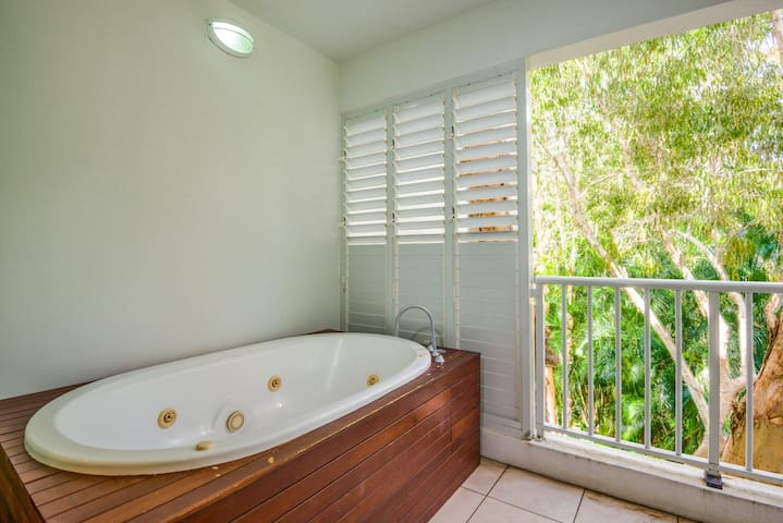 Enjoy a spa on your balcony