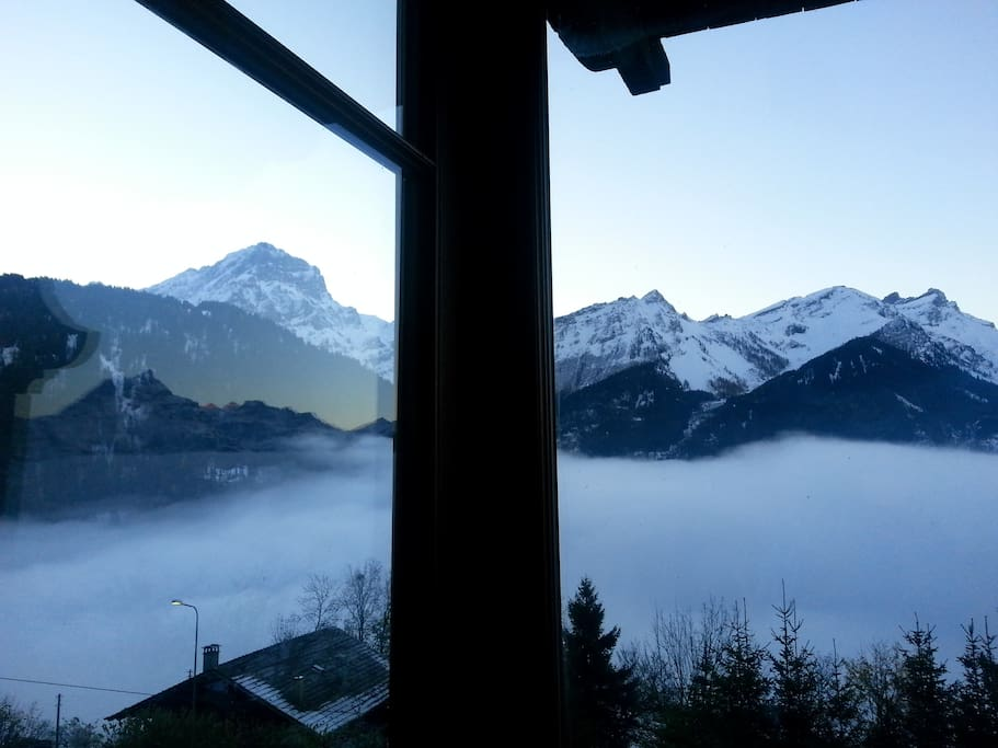 Our view: just wonderfull mountains