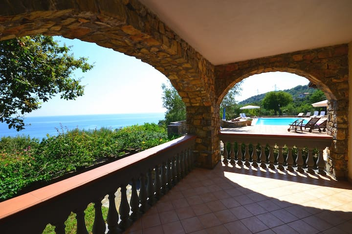 Luxury sea view apartment with pool - Vibonati - Appartement