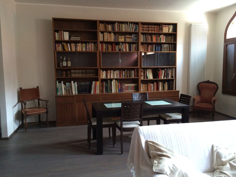 The library in the living room