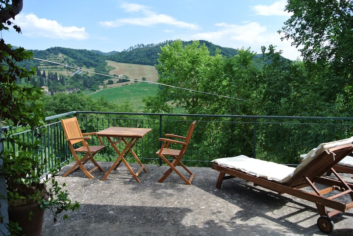 House with view in Tuscany