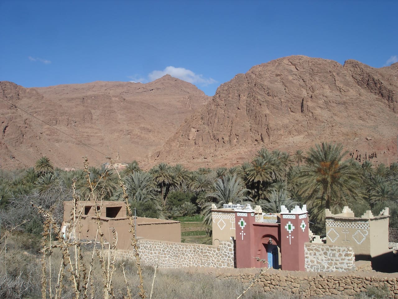 palmeraie guest house at 7km in the road to todra gorge from tinghir