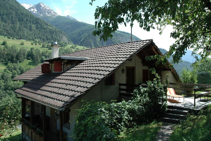 Cozy Chalet in Mörel with Private Terrace