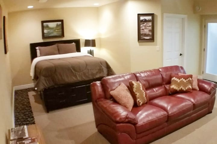 This large suite is comfortable and private!