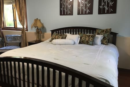 Garden Level Large Bedroom with King and Twin beds - Willow Springs