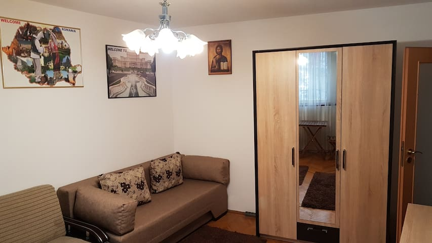 Studio central Bucharest, great for 3-5 friends