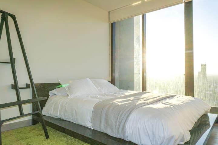Bedroom with the view of Tijuana