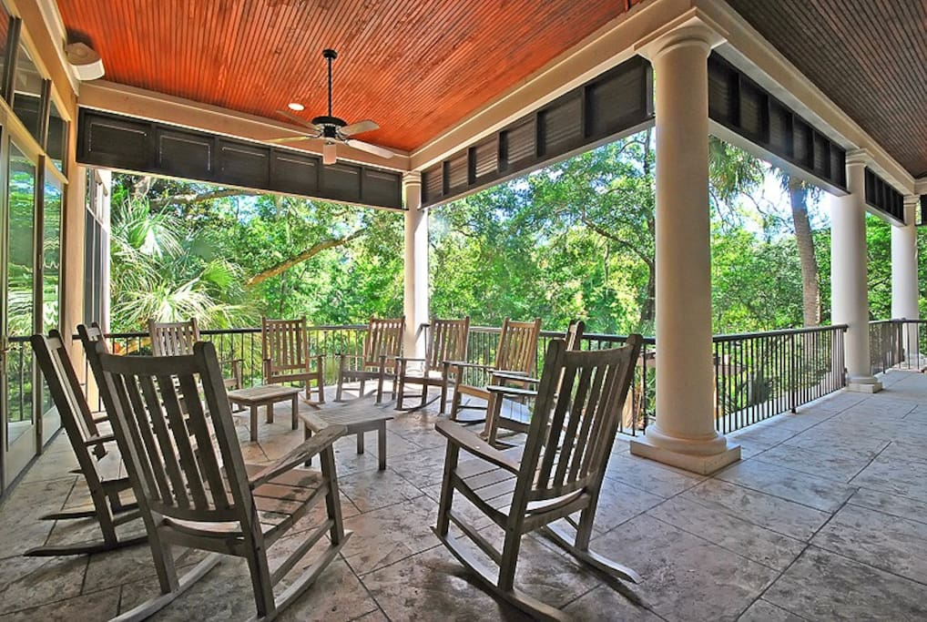 Front Porch Overlooking Pool
