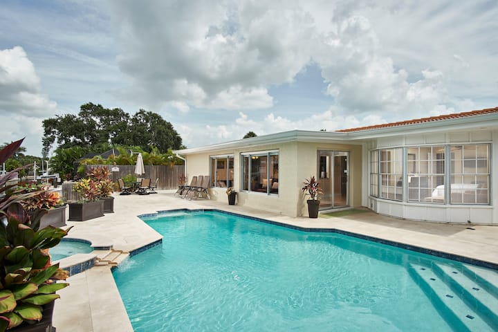 Luxury Village Canal Home with heated Pool & Spa