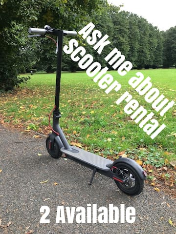 If interested I can offer 2 E Scooters for rent during your stay - A great way to see London.