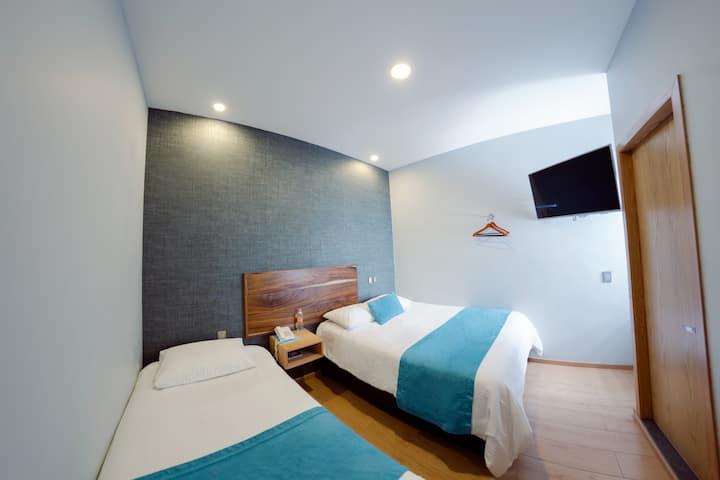 Hotel Azul Agave(Habitación con Queen e individual