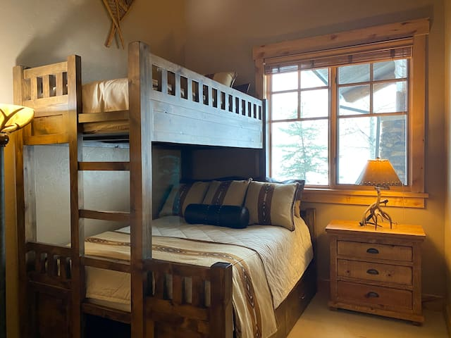 Bedroom #2 with a queen & twin bed