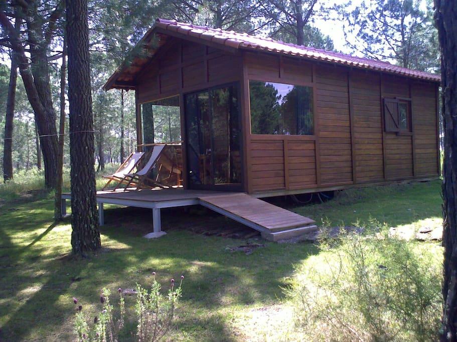 Nova vista da casa madeira Rustica