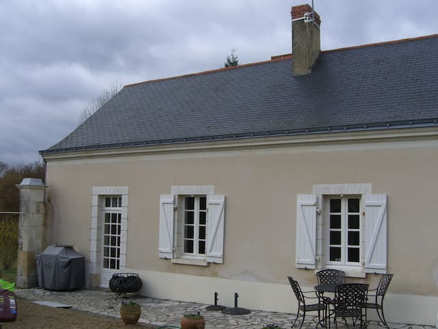 Front of house overlooking courtyard