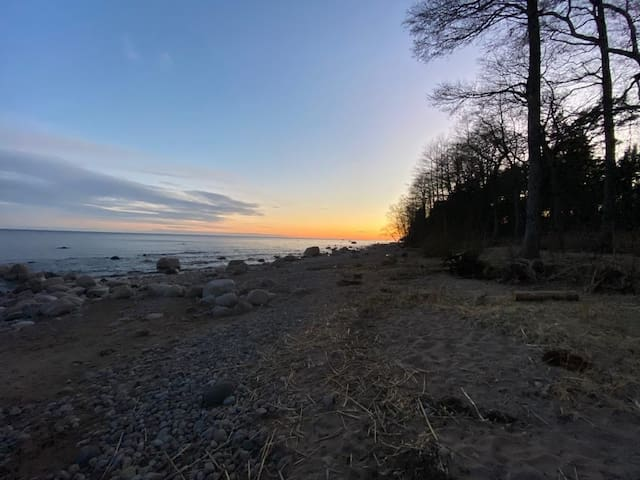 Домик на берегу финского залива