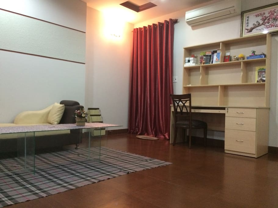 1 typical room big size 40m2 ~ 430 ft2 every thing included: bathroom, kitchen, sofa + TV, bed , closet...