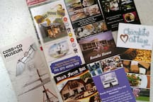 Brochures.... some of the many nice places you can visit around this area