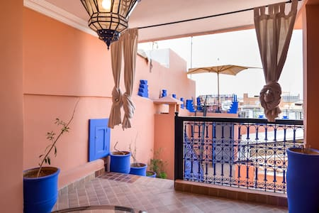 Terrace Room, Great location3 mins to square+Wi Fi - Marrakesh
