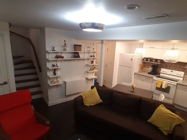 TV featured basement apartment in the Junction