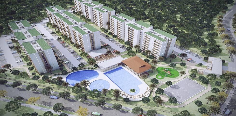 Apartamento amoblado, Aire Ac, comodo, tranquilo - Ricaurte - Apartamento
